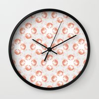crab Wall Clocks featuring crab crab by Kirk and Wood