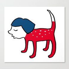 Dog-girl Canvas Print