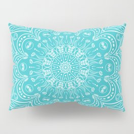 Teal mandala Pillow Sham
