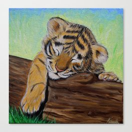 Sleepy Tiger Cub Canvas Print