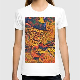 A Nightmare Elm Street Freddy Krueger Angry Artistic Illustration Evil Shapes Style T-shirt