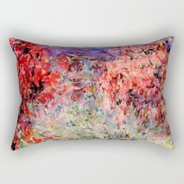 "Claude Monet ""Flowering Trees near the Coast"", 1926 Rectangular Pillow"