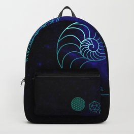 Sacred Geometry Spiral of Creation Backpack