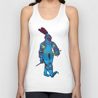 knight Tank Tops featuring knight by the hermit