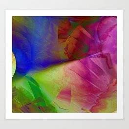Multicolored abstract 2016 / 019 Art Print