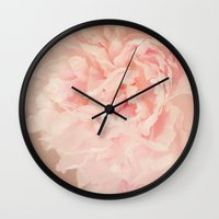blush Wall Clocks featuring BLUSH by Jenny Ardell