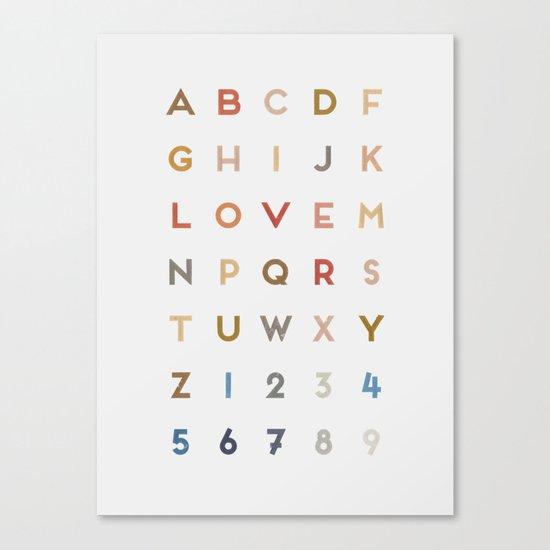 Letter Love - Color Canvas Print