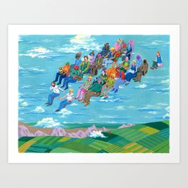 Plane Without Plane Art Print