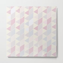 Shapes in Soft Colors Metal Print