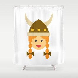 a viking girl Shower Curtain