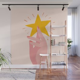 Abstraction_YOU_ARE_A_STAR_Minimalism_001 Wall Mural