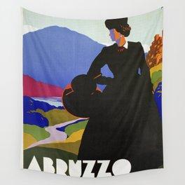 Abruzzo Italian travel Lady on a walk Wall Tapestry