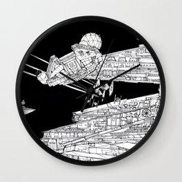 Millenium Falcon unedited Wall Clock