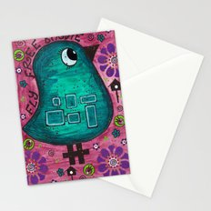 Fly free birdie Stationery Cards