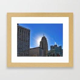 Halo of Detroit Framed Art Print