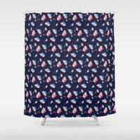 matisse Shower Curtains featuring MATISSE DREAMS by Wishbox Creative