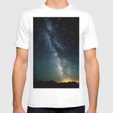 The Milky Way Mens Fitted Tee White MEDIUM