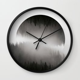 Mountains in hiding Wall Clock