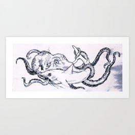 Shark Ethic Art Print