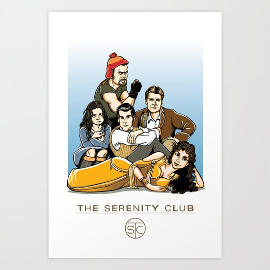 The Serenity Club Art Print