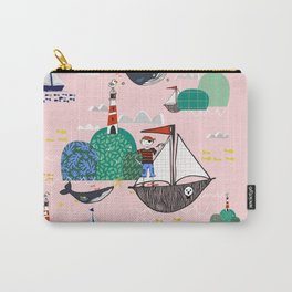Pirates Ahoy Pink Carry-All Pouch
