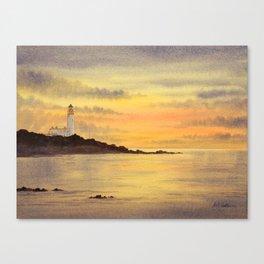 Turnberry Lighthouse Scotland Sunset Canvas Print