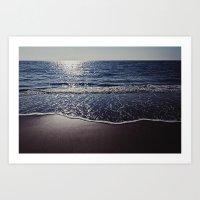 The motion of the ocean Art Print