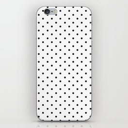 Minimal- Small black polka dots on white- Mix & Match with Simplicty of life iPhone Skin