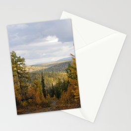 Landscape of sub-polar ural mountains Stationery Cards
