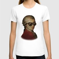 mozart T-shirts featuring Funny Steampunk Mozart by Paul Stickland for StrangeStore