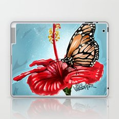 Butterfly on flower 2 Laptop & iPad Skin
