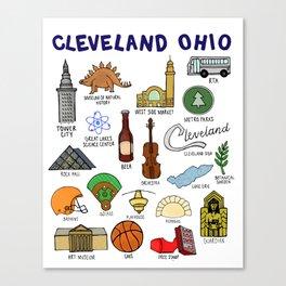 Cleveland Ohio Landmarks Canvas Print