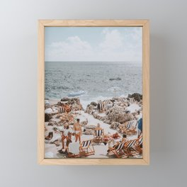 capri, italy Framed Mini Art Print