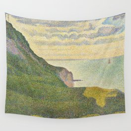 Georges Seurat Seascape at Port-en-Bessin, Normandy 1888 Painting Wall Tapestry