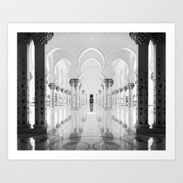 BLACK AND WHITE ABU DHABI Art Print