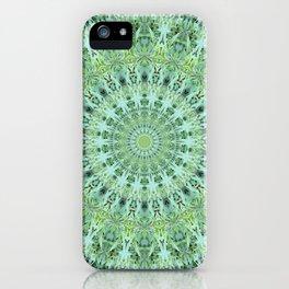 Mary Jane Mandala (green) iPhone Case