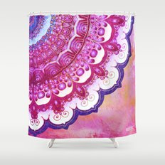 Colorful Watercolor Mandala Shower Curtain