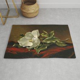 """""""Magnolia Grandiflora,"""" 1885 by Martin Johnson Heade Rug"""
