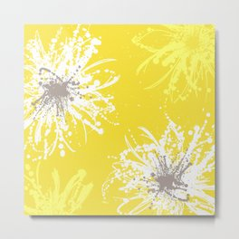 Sunflower Sprinkle Metal Print
