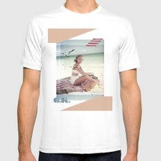 G.K. Collage Mens Fitted Tee White MEDIUM
