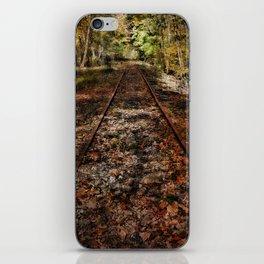 Forward Along the Railroad Tracks iPhone Skin