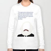 marx Long Sleeve T-shirts featuring Marx-Minimalism by Bel17