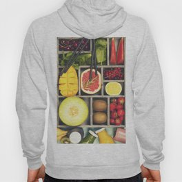 Fresh juices or smoothies with fruits and vegetables Hoody