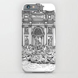 Trevi Fountain in Rome iPhone Case