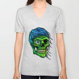 Green Zombie Unisex V-Neck