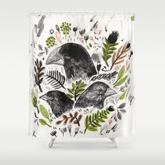 DARWIN FINCHES Shower Curtain