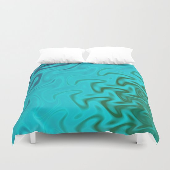 Ripples Fractal in Tropical Seas Duvet Cover
