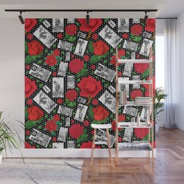 Tarot Cards and Roses - A Major Arcana Fashion Print Wall Mural