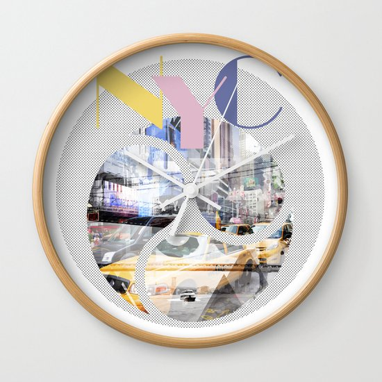 TRENDY DESIGN New York City | Geometric Mix No 1 Wall Clock