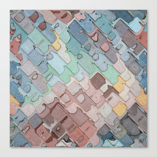 Colorful Layers Pattern Canvas Print